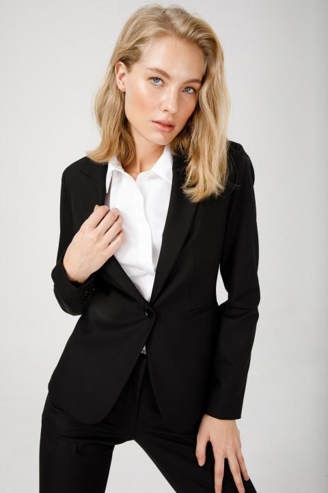 Ekol - Klasik Tek Düğme Ceket-Siyah