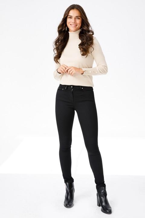 Ekol - Dar Paça Likralı Pantolon-Siyah
