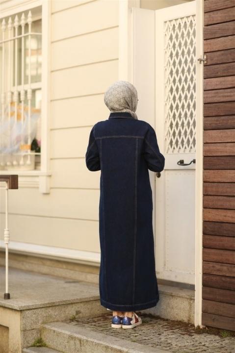 Uzun Kot Ceket-Lacivert