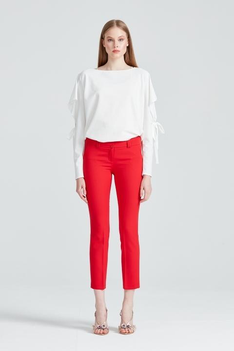 Bilek Boy Pantolon-Kırmızı