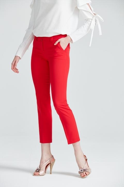 Bilek Boy Pantolon-Kırmızı - Thumbnail
