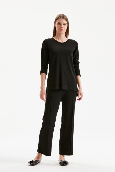 On Fashion - Çimalı Pantolon-Siyah