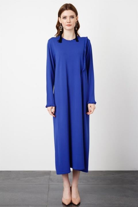 Fırfır Detaylı Rayon Elbise /C2