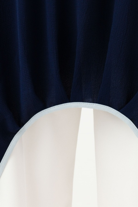 İki Renkli Oval Kesim Tunik - Thumbnail