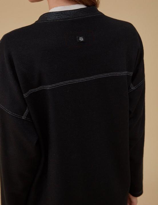 Keçe Bomber Ceket-Siyah - Thumbnail