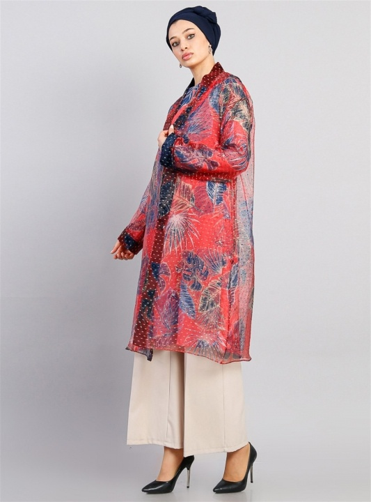 GAZELLA - Kimonolu Tunikli Takım Kırmızı