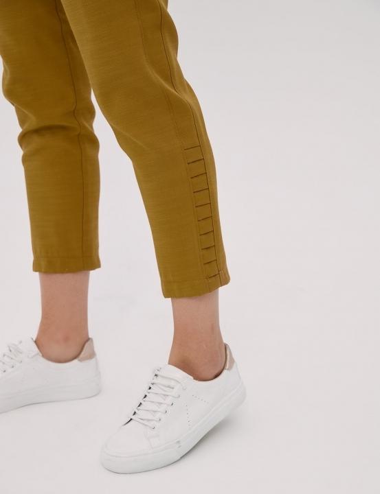 Paça Detaylı Pantolon-Oliv
