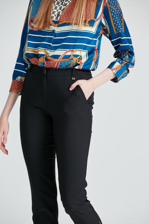 Paçası Fermuarlı Klasik Pantolon
