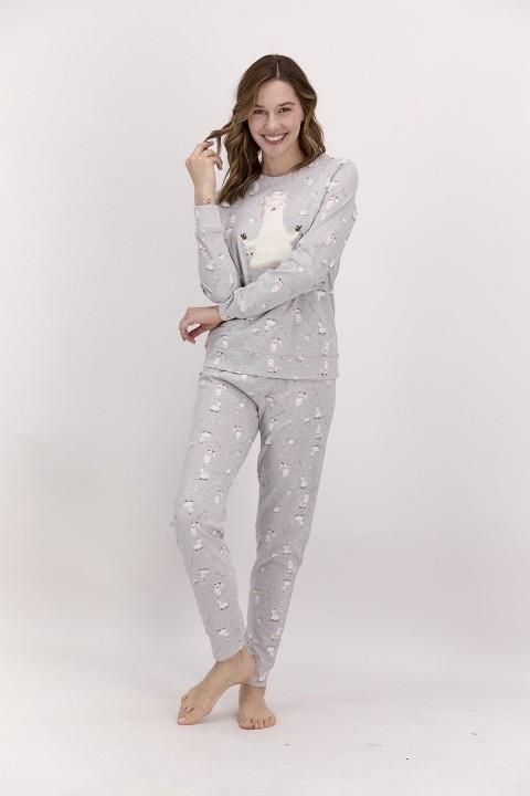 PİERRE CARDİN - Uzun Kol Pijama Takımı Grimelanj-PC8018