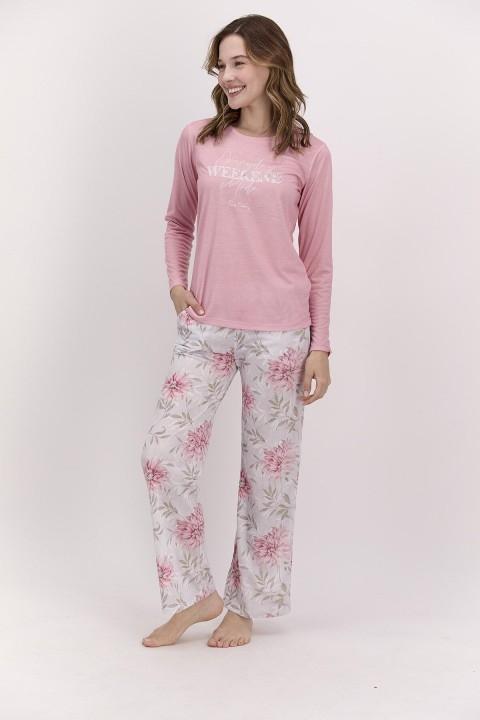 PİERRE CARDİN - Every Day Weekend Mood Açık Pembe Kadın Pijama Takımı-PC8115
