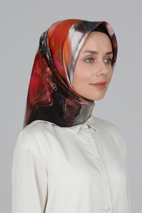 LEVİDOR - Twill İpek Eşarp 0102833 Beyaz